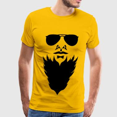 Bearded Face - Men's Premium T-Shirt
