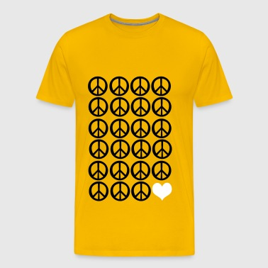 peace peace and love - Men's Premium T-Shirt