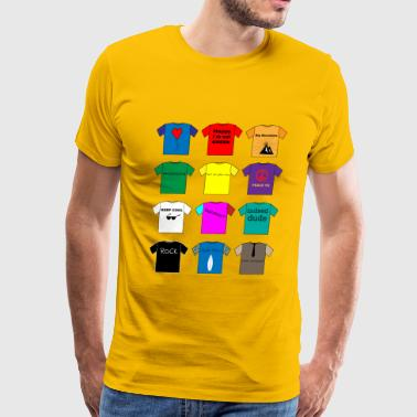 T Shirts colorful variety - Men's Premium T-Shirt