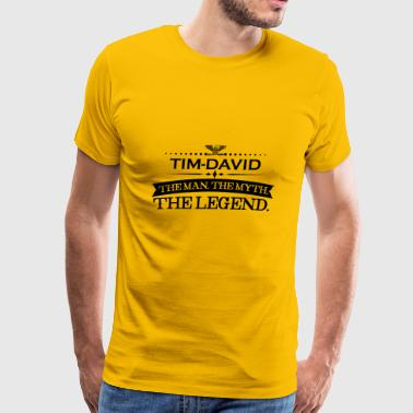 Mann mythos legende geschenk Tim David - Men's Premium T-Shirt