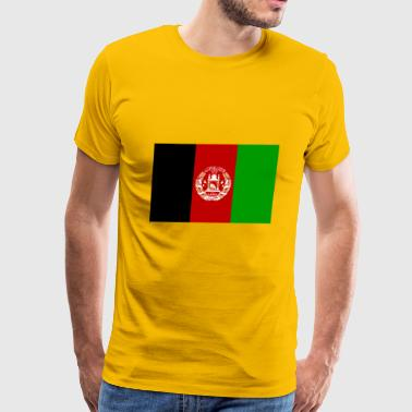 Afghanistan country flag love my land patriot - Men's Premium T-Shirt