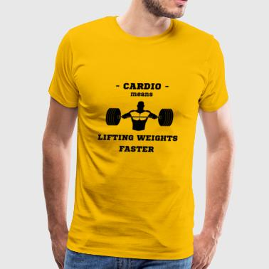 Cardio Liftiting Weights Faster Bench Press Sport - Men's Premium T-Shirt