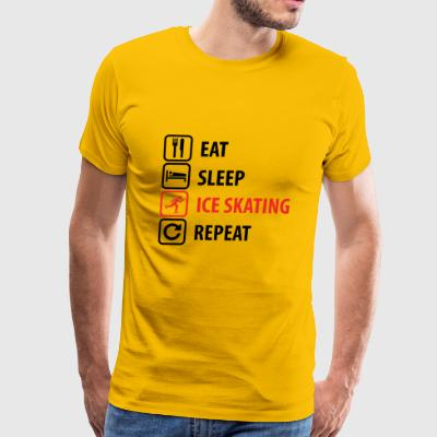 Eat Sleep Ice skating Repeat - Men's Premium T-Shirt