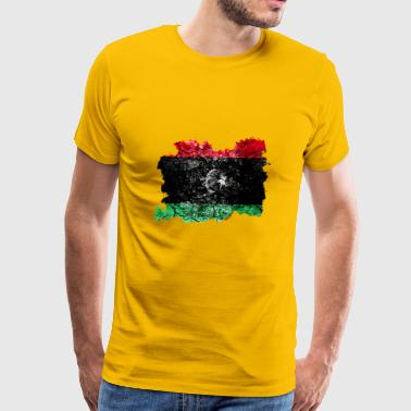 Libya Vintage Flag - Men's Premium T-Shirt