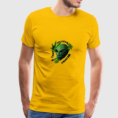 smoking alien - Men's Premium T-Shirt