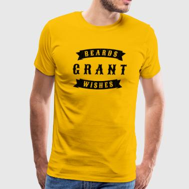 Beards grant wishes, black - Men's Premium T-Shirt