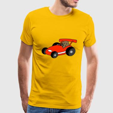 dragster racer automotive car automobil rennwagen1 - Men's Premium T-Shirt