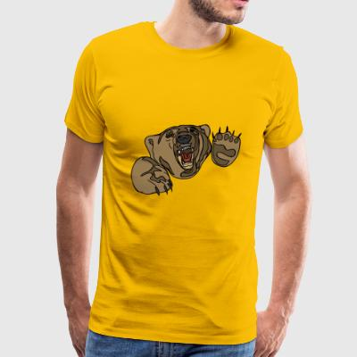 Angry Grizzle Bear - Men's Premium T-Shirt