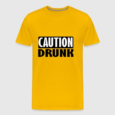 caution drunk - Men's Premium T-Shirt