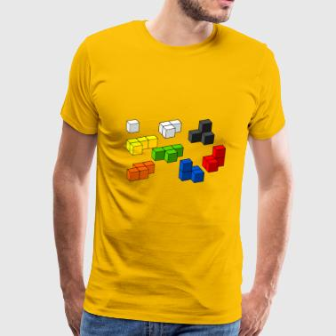 Tetris blocks - Men's Premium T-Shirt