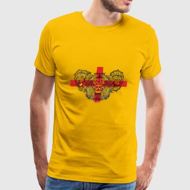 3 Lions St Georges Cross - Men's Premium T-Shirt