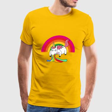 Puking Unicorn Rainbow1 - Men's Premium T-Shirt