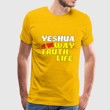 Yeshua Is the way truth life - Men's Premium T-Shirt