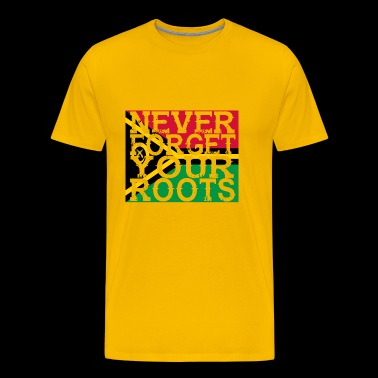 never forget roots home Vanuatu - Men's Premium T-Shirt