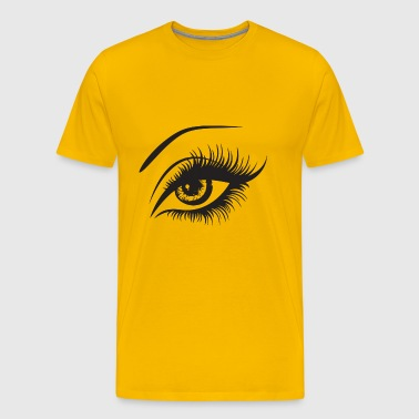 Eye Look Human Vision View Eyebrow Eyesight See - Men's Premium T-Shirt