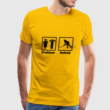 problem solved hockey eishockey - Men's Premium T-Shirt
