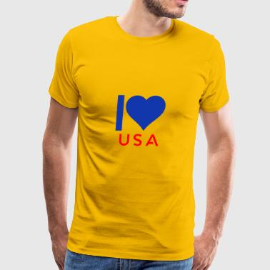 I love USA - Men's Premium T-Shirt