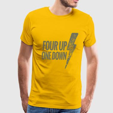 four up one down - Men's Premium T-Shirt