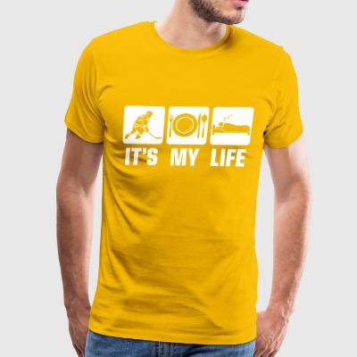 Ice hockey is my life - Men's Premium T-Shirt