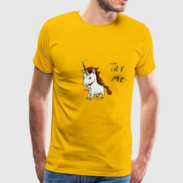 Try Me Unicorn - Men's Premium T-Shirt