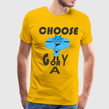 CHOOSE GYM OR GAY DESIGN - Men's Premium T-Shirt