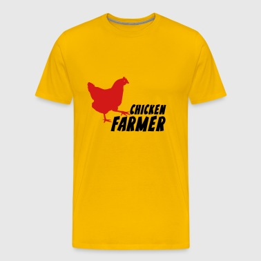 Chicken Farmer Farming Agriculture - Men's Premium T-Shirt