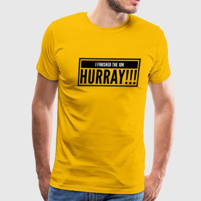 I finished a 10K hurray - Men's Premium T-Shirt