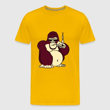 Gorillas kiffen joint party sunglasses - Men's Premium T-Shirt