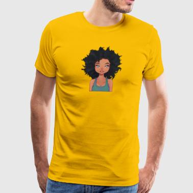 Naturally Curly - Green Eyed Woman - Men's Premium T-Shirt