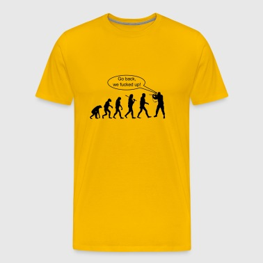 Evolution: Go Back ! - Men's Premium T-Shirt