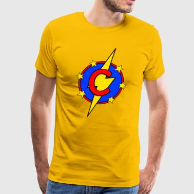 My Little Super Hero Kids & Baby Letter C - Men's Premium T-Shirt
