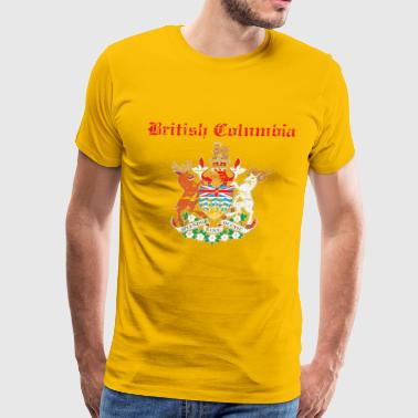 British Columbia grunge coat of arm for canada - Men's Premium T-Shirt