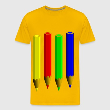Color Pencils - Men's Premium T-Shirt