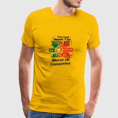 URLAUB HOME ROOTS TRAVEL I M IN Portugal Marco de - Men's Premium T-Shirt