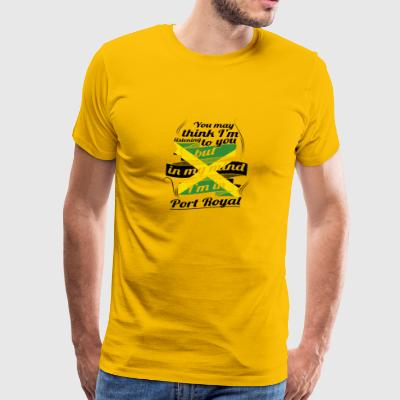 URLAUB jamaika ROOTS TRAVEL I M IN Jamaica Port Ro - Men's Premium T-Shirt