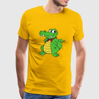 Crocodile Alligator - Men's Premium T-Shirt