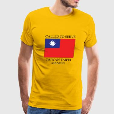 Taiwan Taipei LDS Mission Called to Serve Flag - Men's Premium T-Shirt