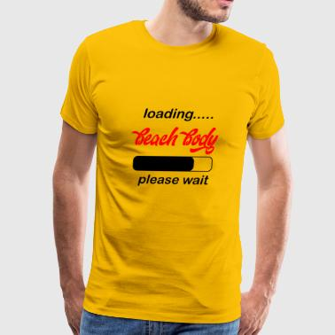 beach body gum loading - Men's Premium T-Shirt