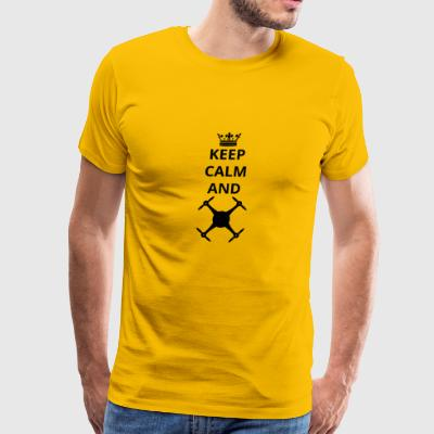 geschenk keep calm and drohne drone png - Men's Premium T-Shirt