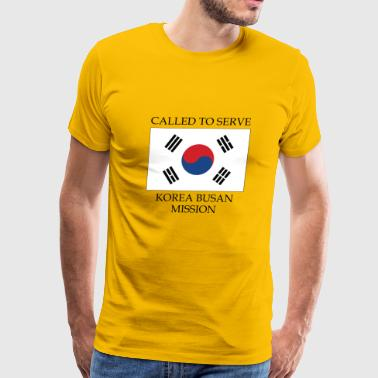Korea Busan LDS Mission Called to Serve Flag - Men's Premium T-Shirt