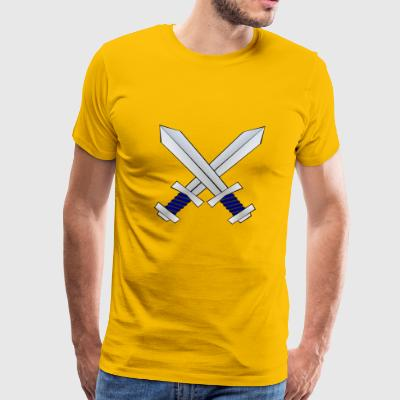 knight ritter sword schwert armor196 - Men's Premium T-Shirt