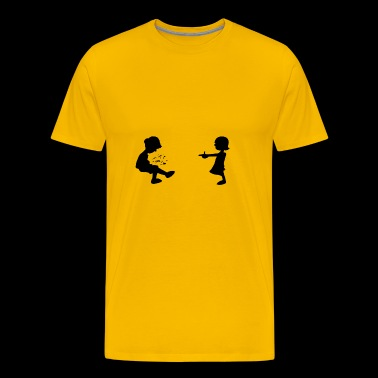 Girl Shoots Boy - Men's Premium T-Shirt