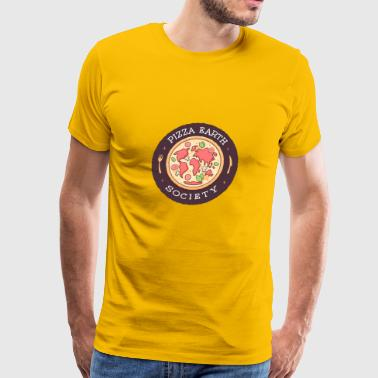 Pizza Earth Society - Men's Premium T-Shirt