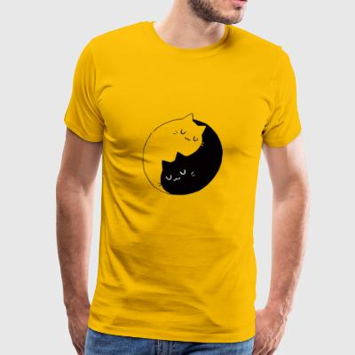 yin yang cat - Men's Premium T-Shirt