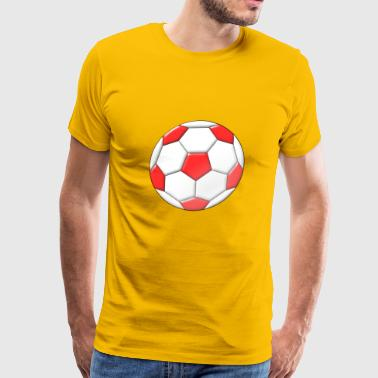football red fussball soccer spielen2 - Men's Premium T-Shirt
