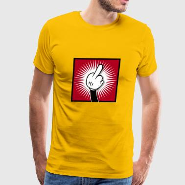 Cartoon Finger - Men's Premium T-Shirt