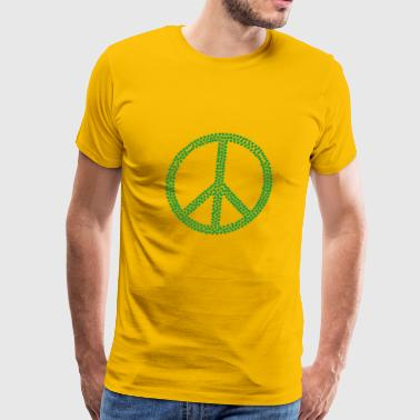Marijuana Peace Love California Love 420 Freedom - Men's Premium T-Shirt