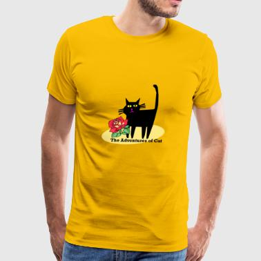 Cat Gets Romantic - Men's Premium T-Shirt