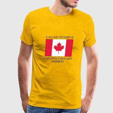Canada Calgary LDS Mission Called to Serve Flag - Men's Premium T-Shirt