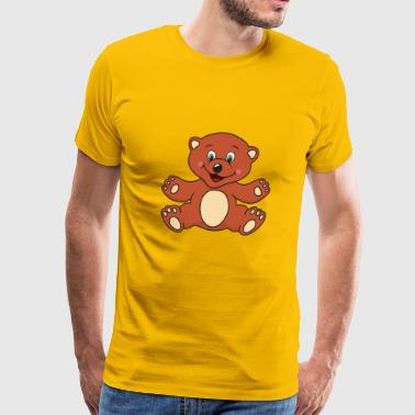 Brown Bear Teddy - Men's Premium T-Shirt